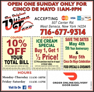 Open One Sunday Only For Cinco De Mayo