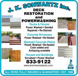Deck Restoration And Powerwashing