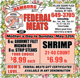 Mother's day Is Sunday, May 12th