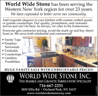 The Marble Granite Fabrication Specialist