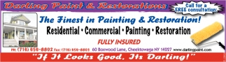 The Finest in Painting & Restoration