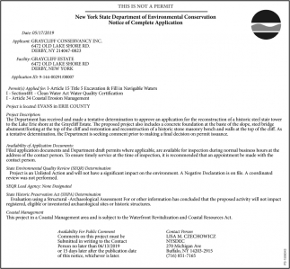 Notice Of Complete Application