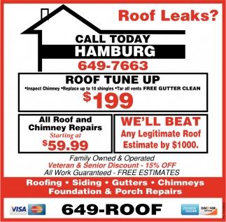 Roof Leaks?