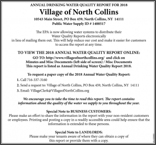Annual Drinking Water Quality Report For 2018