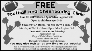 Free Football And Cheerleading Clinic
