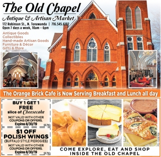 Come Explore, Eat And Shop Inside The Old Chapel