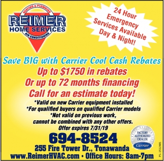 Save Big With Carrier Cool Cash Rebates