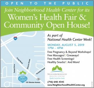 Women's Health Fair & Community Open House!