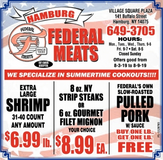 We Specialize In Summertime Cookouts!