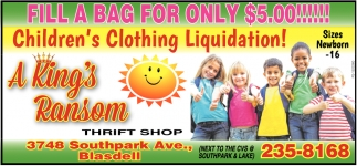 Fill A Bag For Only $5.00!!!
