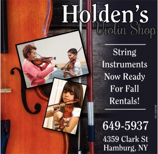 String Instruments Now Ready for Fall Rentals!
