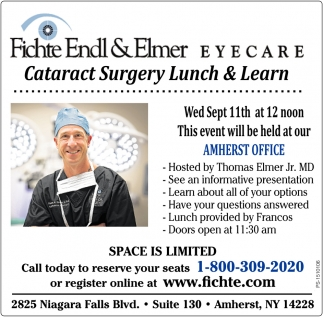 Cataract Surgery Lunch & Learn