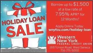 Holiday Loan Sale