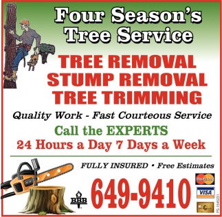 Tree Removal, Stump Removal, Tree Trimming