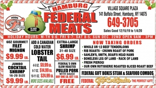 Federal Gift Boxes Steak & Seafood Combos