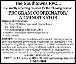 Program Coordinator/Administrator