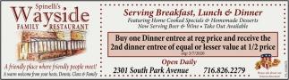 Serving Breakfast, Lunch & Dinner