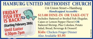 Friday Fish Fry Is Back!