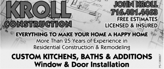 Custom Kitchens, Baths & Addition