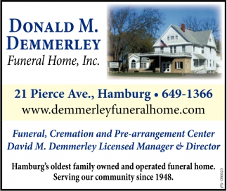 Hamburg's Oldest Family Owned And Operated Funeral Home.