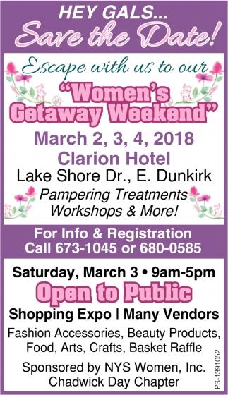 Women's Getaway Weekend