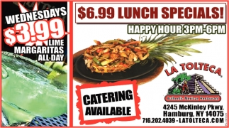$6.99 Lunch Specials!
