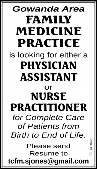 Physician Assistant/ Nurse Practitioner