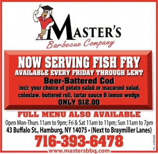 Now Serving Fish Fry