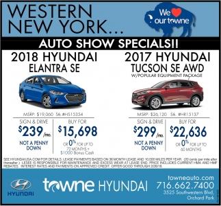 Auto Show Specials!!