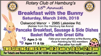 15th Annual breakfast with the Bunny!