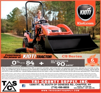 Experience the power of Kioti tractor