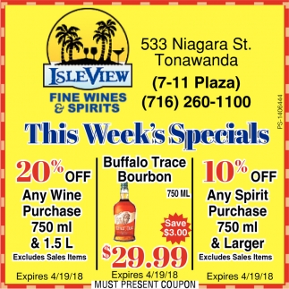 This Week Specials