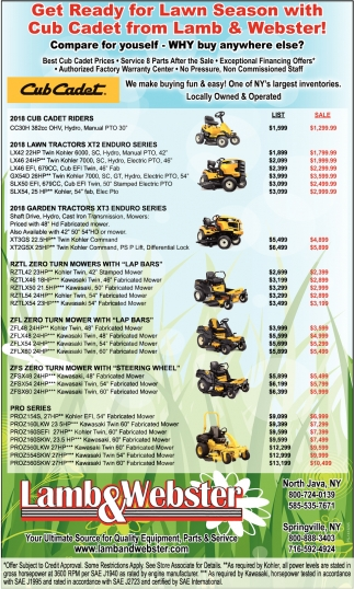 Get Ready for Lawn Season with Cub Cadet form Lamb & Webster