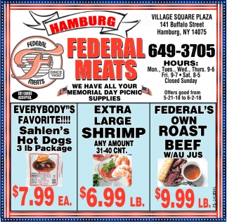 Hamburg Federal Meats