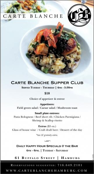 Carte Blanche Supper Club