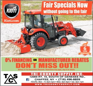 Fair Specials Now