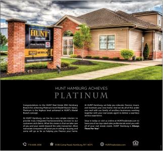 Hunt Hamburg Achieves Platinum