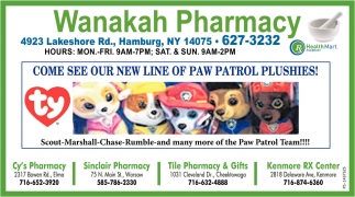 Come See Our New Line Of Paw Patrol Plushies!