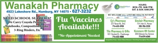 Flu Vaccines Available!!