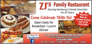 Come Celebrate With Us Zj S Family Restaurant And Catering Hamburg Ny