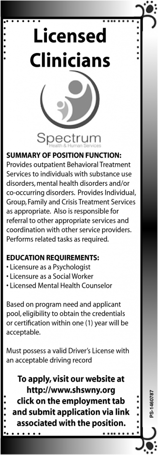 Licensed Clinicians
