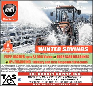Winter Savings