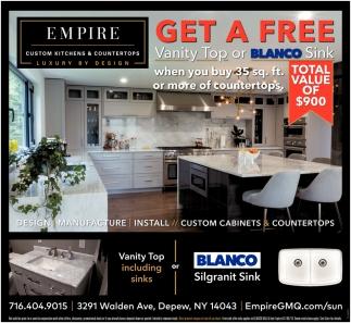 Get A Free Vanity Top Or Blanco Sink