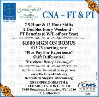 CNA - FT & PT