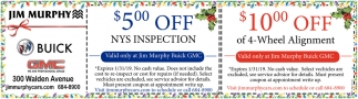 $5.00 Off NYS Inspection