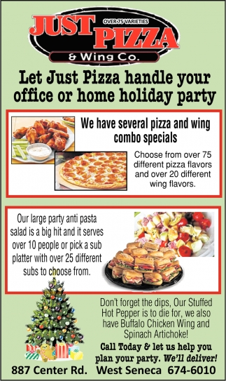 Let Just Pizza Handle Your Office Or Home Holiday Party