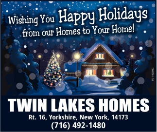 Wishing You Happy Holidays From Our Homes To Your Home!