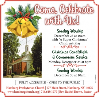 Come, Celebrate With Us!