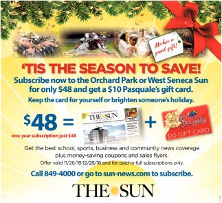'Tis The Season To Save!