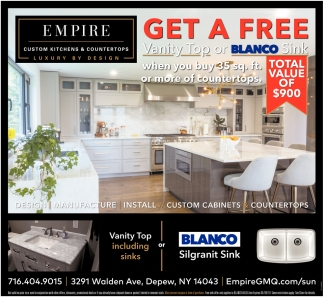Get A Free Vanity Top Or Blanco Sink